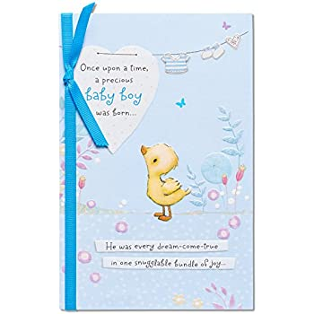 Amazon american greetings bear with balloon new baby boy american greetings snuggable bundle of joy new baby boy congratulations card with ribbon m4hsunfo