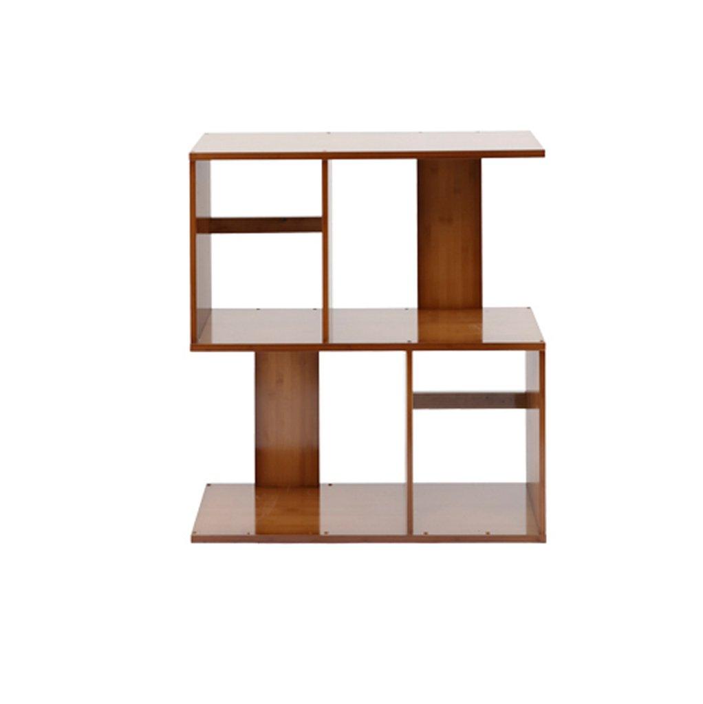 CHS@ S字型の本棚現代的なシンプルな棚のリビングルーム竹の着陸本棚パーティションフレームクリエイティブ (サイズ さいず : 60-68.5cm) B07RVN5CY4  60-68.5cm