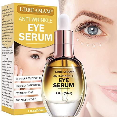 51yokVTTXeL - Eye Serum,Under Eye Cream,Anti Wrinkle Eye Serum,Anti Ageing Eye Serum,Hydrating Eye Serum,For Dark Circles, Puffiness - Reduces Wrinkles, Bags, Saggy Skin & Puffy Eyes Great Eye Treatment