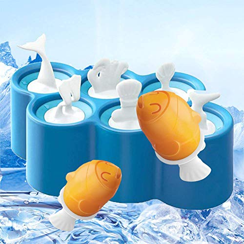 HTAO Homemade Popsicle Molds Silicone Simple to Use Ice Bar Maker Easy to Clean BPA- free and Phthalate-free Plastic Tiny Popsicle Mold Best for Babies and Toddlers (blue) ()
