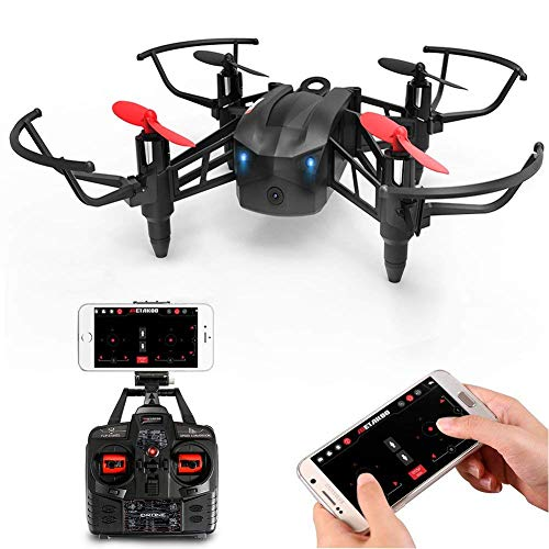 Metakoo RC Drone with WiFi FPV HD Camera, Wind-Permeable Structure, 6-Axis Gyro, Altitude Hold, Adjustable Speed, Headless Mode, One Key Take-Off/Landing, 3D Flips, VR Function, Pluggable Battery, M5