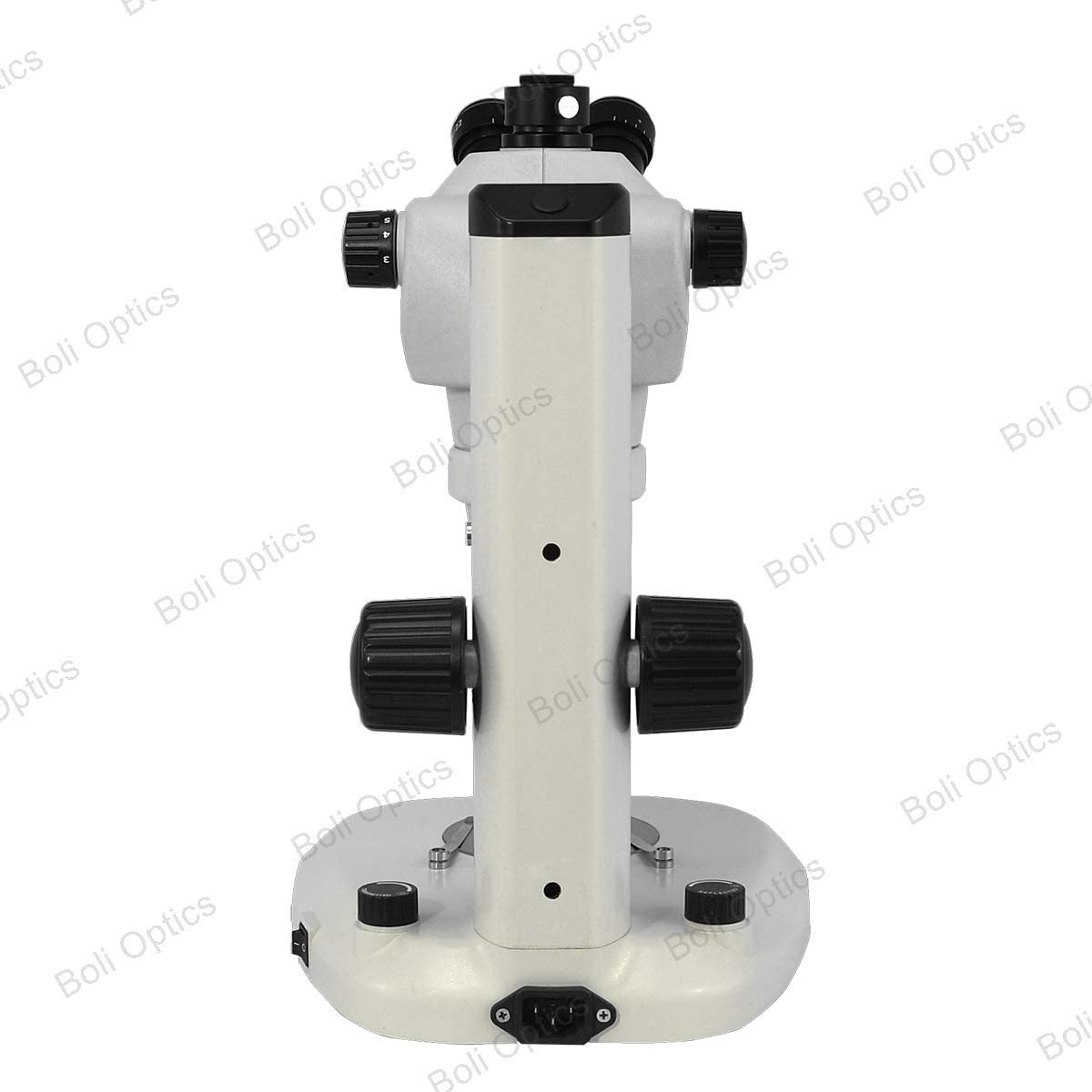 LED Top and Bottom Light Trinocular BoliOptics 8X-50X Widefield Zoom Stereo Microscope Fan Shaped Base Track Stand Track Length 280mm
