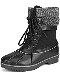 Women's Monte_01 Black Mid Calf Winter Snow Boots Size 9...