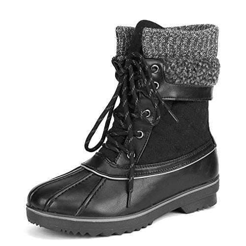 Monte_01 Black Mid Calf Winter Snow Boots Size 7 M US ()