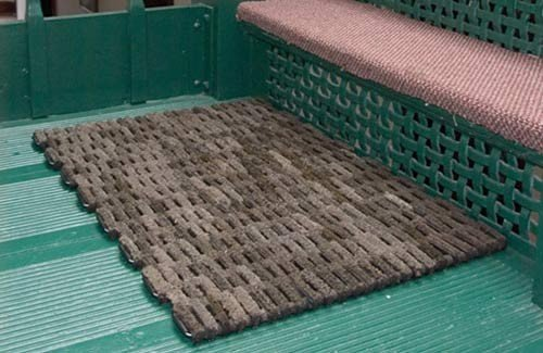 Durable Dura Rug Recycled Fabric Tire Link Outdoor
