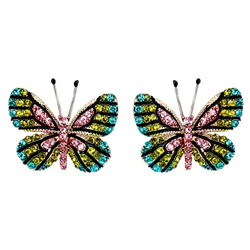 Enamel Butterfly Earrings - 9