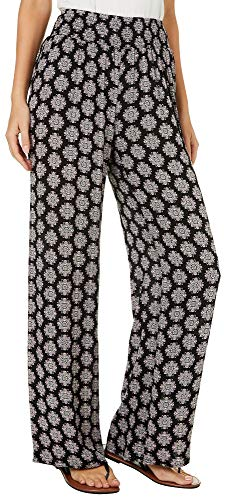 Palazzo Medallion (Joe Benbasset Juniors Medallion Print Palazzo Pants Large Black/Purple/White)