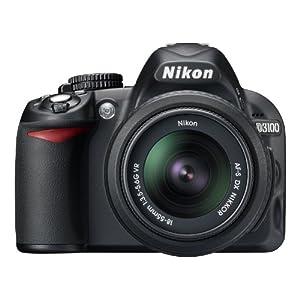Nikon D3100 14MP DSLR Camera with 3x Optical Zoom (Black)