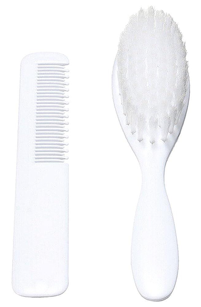 BleuMoo Soft Baby Infant Hair Brush Set Comb Grooming Shower Kit