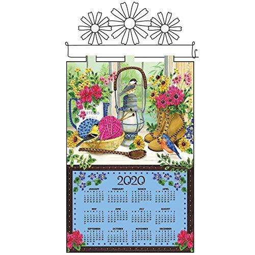 Design Works Sewing Desk Calendar Felt & Sequin Kit - Felt Jeweled Calendars