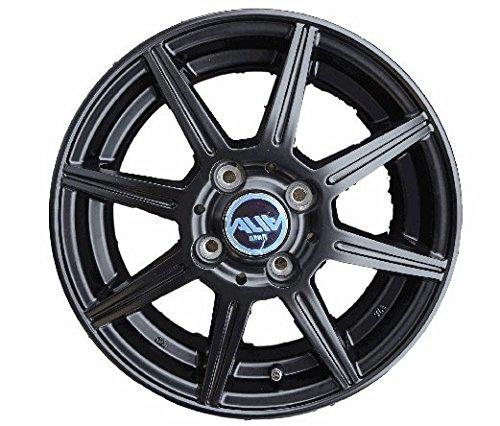 4.5-14アルミホイールALIA4本セット新品マッドブラック B01LX1D4EA