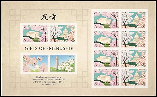 Gifts of Friendship Sheet of 12 Forever Stamps 2015 NEW RELEASE (Japan Joint Issue) by USPS Forever Stamps