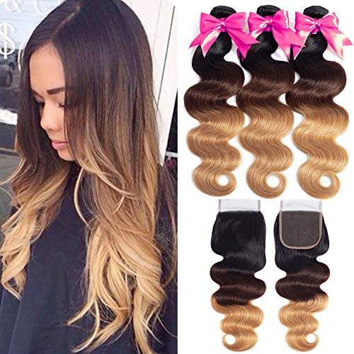 Ombre-Bundles-with-Closure-T1B427-Brazilian-Body-Wave-3-Bundles-with-Closure-Unprocessed-Brazilian-Hair-with-Closure-20-22-2418