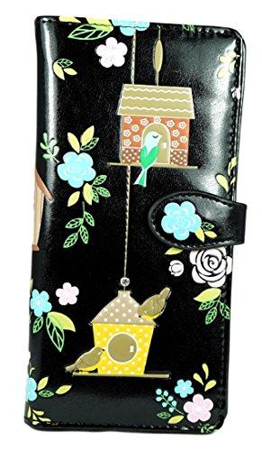 Donne Uccellini Love Design Turchese Giovani E Nero Per Large Rifugio Floral Degli Birdie Diversi Shagwear Retreat amore Floreale Colori Purse Portafoglio qtOTWwB