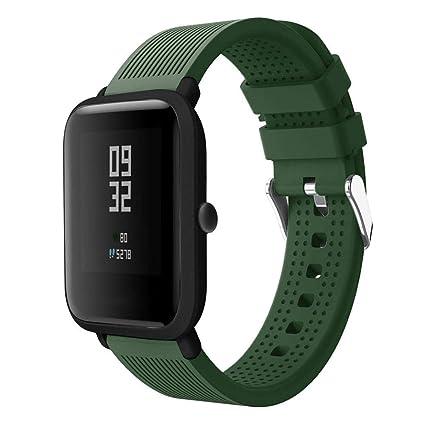 Correas xiaomi huami amazfit bip,☀️Modaworld Accesorios de Reloj Deportivo de Silicona Correa de