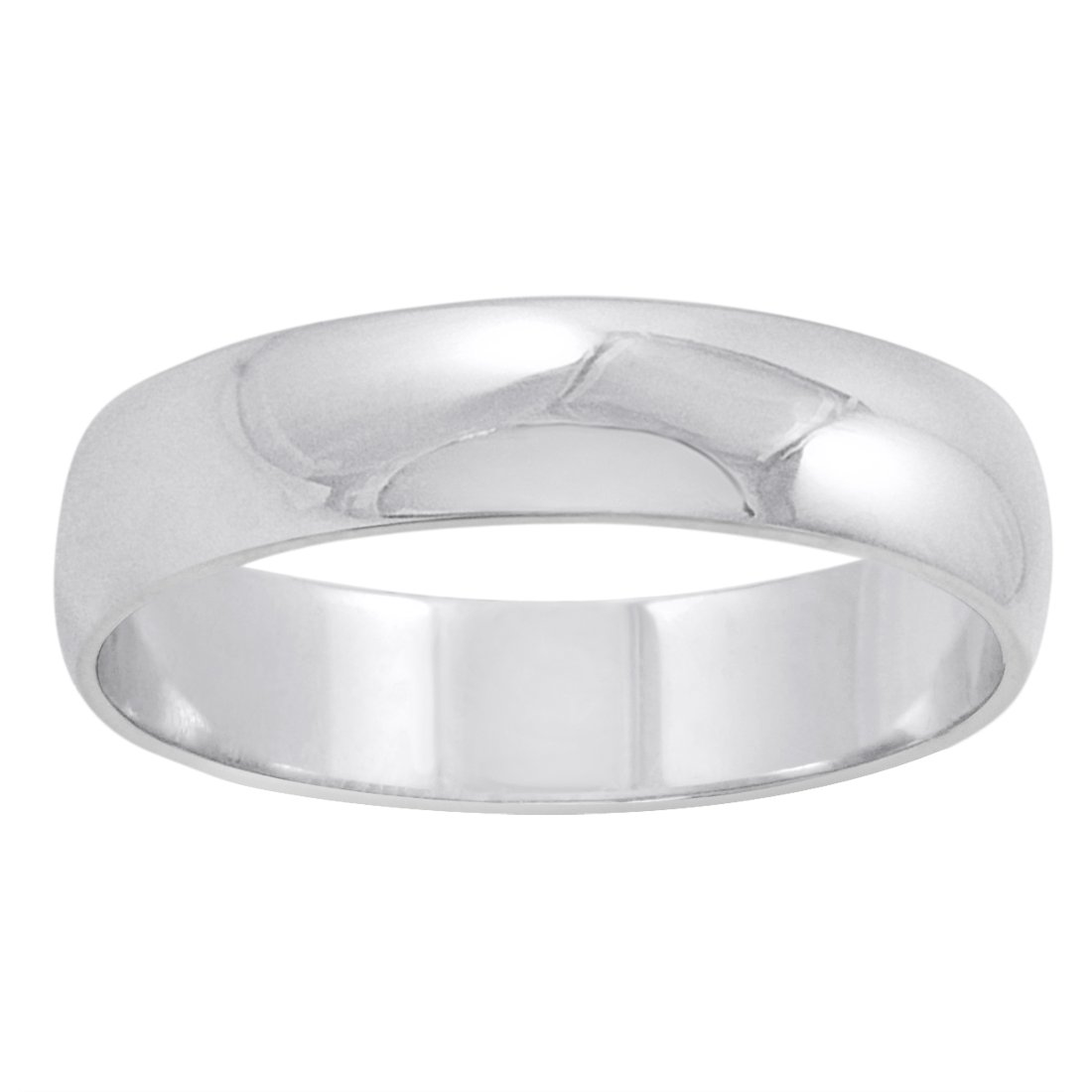 Men's 14K White Gold 5mm Traditional Plain Wedding Band (Available Ring Sizes 8-12 1/2) Size 8 by Oxford Ivy (Image #2)