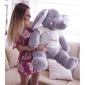 Peluches Gigantes Elefante 135cm Fabricado en España: Amazon ...
