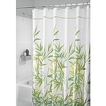 InterDesign Anzu Fabric Shower Curtain, Long, 72x84-Inch, Gray