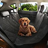 Favorite Pet Car Seat Cover, Waterproof, Quilted, Non-Slip Backing Dog Hammock Seat Cover with Anchors