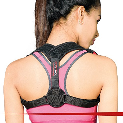 Back Posture Corrector for Women & Men by Control Fit- Comfortable & Effective Elastic Brace for Back Support & Medical Problems- Invisible & Adjustable for Hunching & Slouching