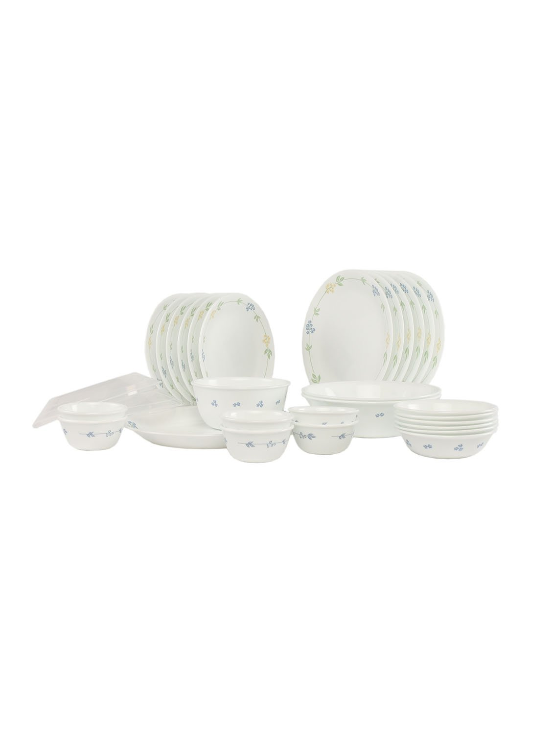 Corelle Essential Secret Garden Round Dinner Set, 30-Pieces