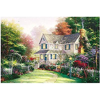 1000 Piece Jigsaw Puzzle for Adults & Kids - Country House Painting Landscape Educational Assembling Toys - Developing Fine Motor Skills, Memory & Shape Sorting - Gift for Birthday & Mother's Day: Toys & Games