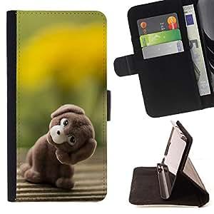 BullDog Case - FOR/Samsung Galaxy S3 III I9300 / - / stuffed animal dog teddy bear toy art /- Monedero de cuero de la PU Llevar cubierta de la caja con el ID Credit Card Slots Flip funda de cuer