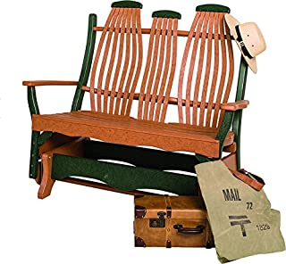 product image for Poly Lumber Bentwood Style Double Glider in Patriot Blue - Amish Made in USA