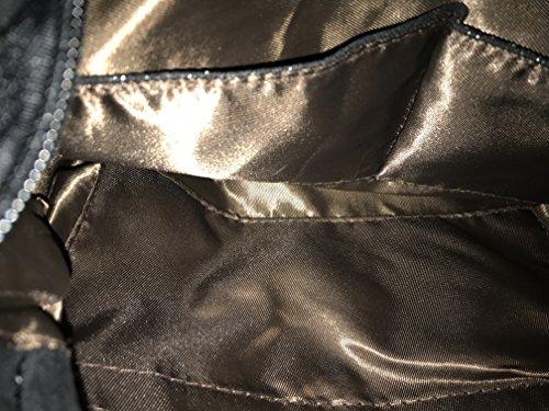 Sintetico Donna Stile Stella Metallizzato Grande Catena Black Camoscio Borsa xq1TITHCw