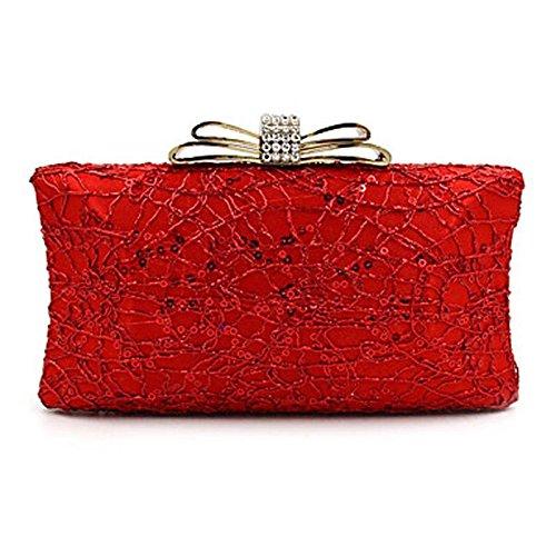 Argent Décontracté Red soirée Saisons Paillette CliquetBleu les de Mariage Noir Sac Minaudière Toutes Nylon Polyester Femme Fête Soirée KYS xUz8TT