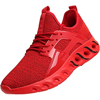 BRONAX Tennis Shoes for Men High Arch para Hombres Lace up Slip on Lightweight Size 8 Comfortable Fashion Stylish Walking training Casual Volleyball Baseball Sports Athletic Running Sneakers Men's Red