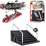 Skatepark Ramps, Mini Fingerboard Skate Park Kit for Tech Deck Circuit Board The Limit Finger Skate Boarding Ultimate Sport Training Props Toy Gift for Kids (E)