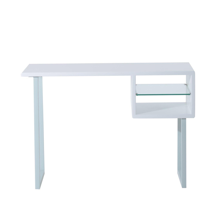 Table Bureau Informatique Table Ordinateur Table D Tude Meuble  # Bureau Ordinateur Flash Blanc