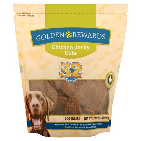 Golden Rewards Chicken Jerky Cuts Dog Treat,32 oz (Made with Real Chicken) - Pack of 2