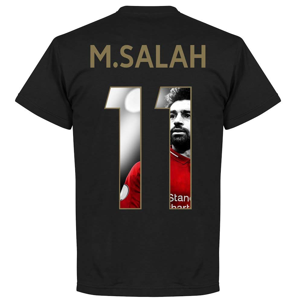Black//Gold Salah 11 Gallery T-Shirt Retake Never Give Up Liverpool M