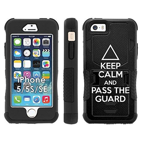 iPhone SE | 5 | 5S Phone Cover, Brazilian Jiu Jitsu- Flak Jacket Dual Armor with Kick-stand for [iPhone SE | 5 | 5S] with [Kickstand and Holster]