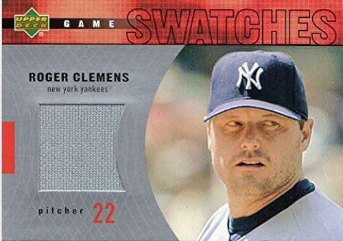 2003 Upper Deck Game Swatches #RJRC Roger Clemens Jersey ...
