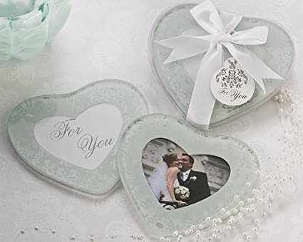 heartfelt memories heart shape photo coasters set of 2 wedding and bridal shower