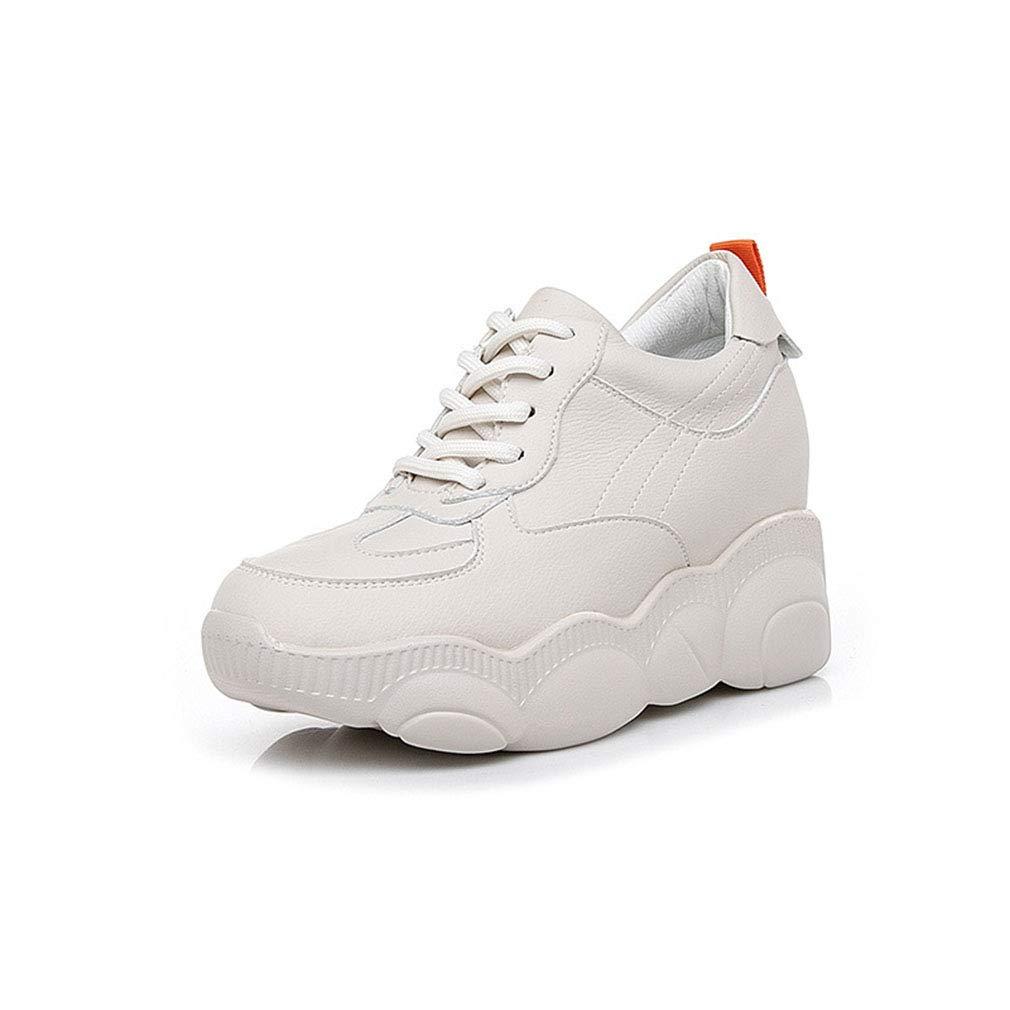 YAN Damen-Turnschuhe Microfiber Frühlingsspiel-Non-Slipp-Raufschuhe Athletic schuhe Fitness & Cross-Trainings-Schuhe Beige 36