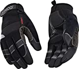 Kinco 2041 KincoPro Unlined General Medium Duty Synthetic Leather Glove with Black Back, Work, X-Large, Gray (Pack of 6 Pairs)