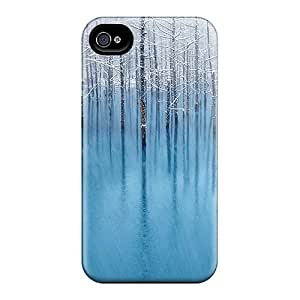 Iphone 4/4s Case Cover Skin : Premium High Quality Winter Snow Trees Case