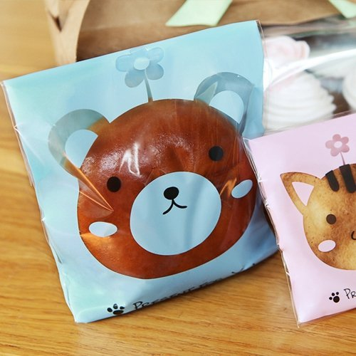 UPC 636160379160, M Puppy Tan OPP Cello Self Adhesive Cookie Bag DIY Treat Party Favor Gift