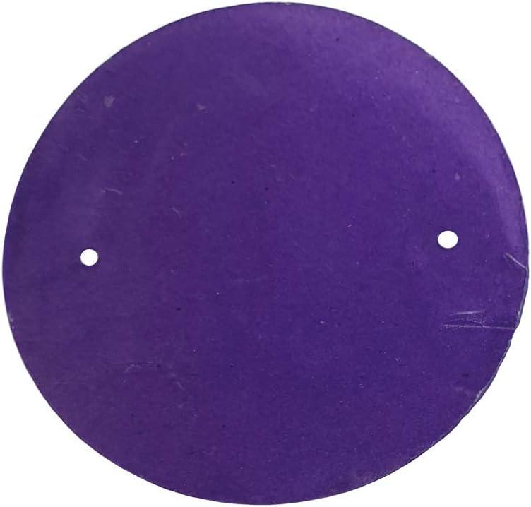 VIE Naturals Capiz Shell Discs with 2 holes - 45 Pcs (Purple), 5cm Diameter
