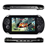 Wenasi 4.3inch 8GB Handheld Game Console with Dual Joystick,mp5 mp3 mp4 Player Camera FM TV-Out (Black)