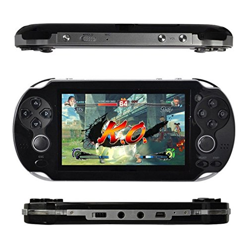 Wenasi 4.3inch 8GB Handheld Game Console with Dual Joystick,mp5 mp3 mp4 Player Camera FM TV-Out (Black) (Mp5 Game Console)