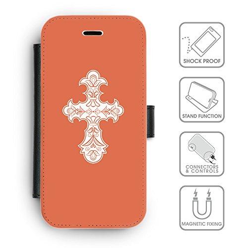 GoGoMobile Coque de Protection TPU Silicone Case pour // Q09250614 Croix chrétienne 35 Rougir // Apple iPhone 4 4S 4G