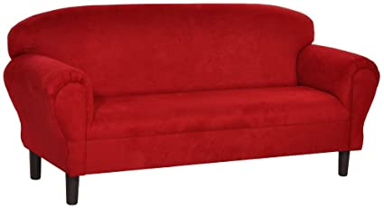 Amazon.com: Max Comfort Premier Youth Super Sofa Red ...