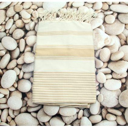 Toga Beige -100% algodón Fouta toalla de baño, 100cm x 200cm, probablemente la más versátil toalla se puede comprar ...