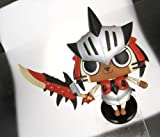 Game Characters Collection Monster Hunter Portable 3 Moving! Airo Reus Cat [JAPAN]