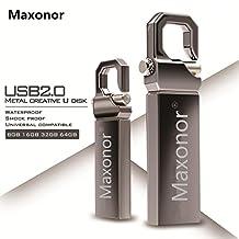 Maxonor USB 2.0 Flash Drive 64GB Waterproof Metal Pendrive High Speed USB Stick